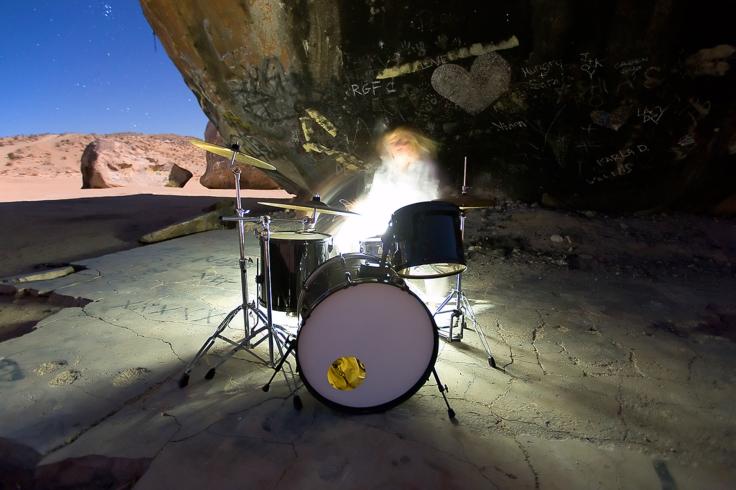 TINA HS as White Drummer